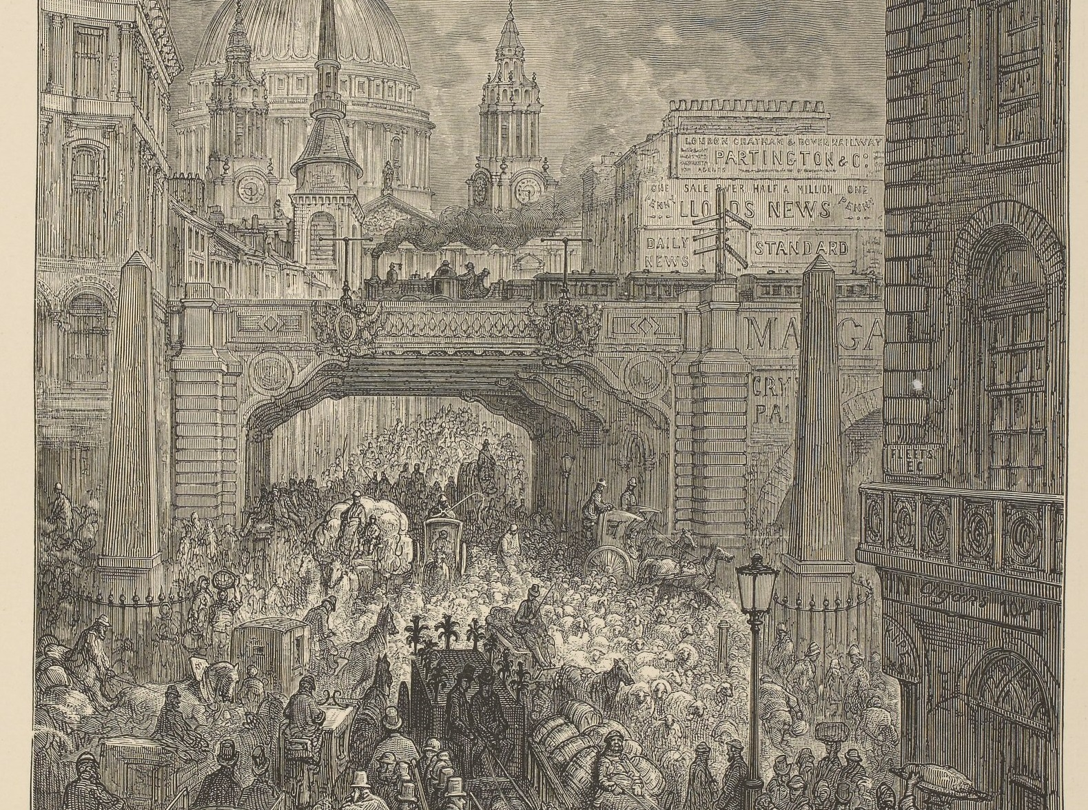 Le londres fantastique de gustave dor presse retronews bnf for Chambre de commerce francaise a londres