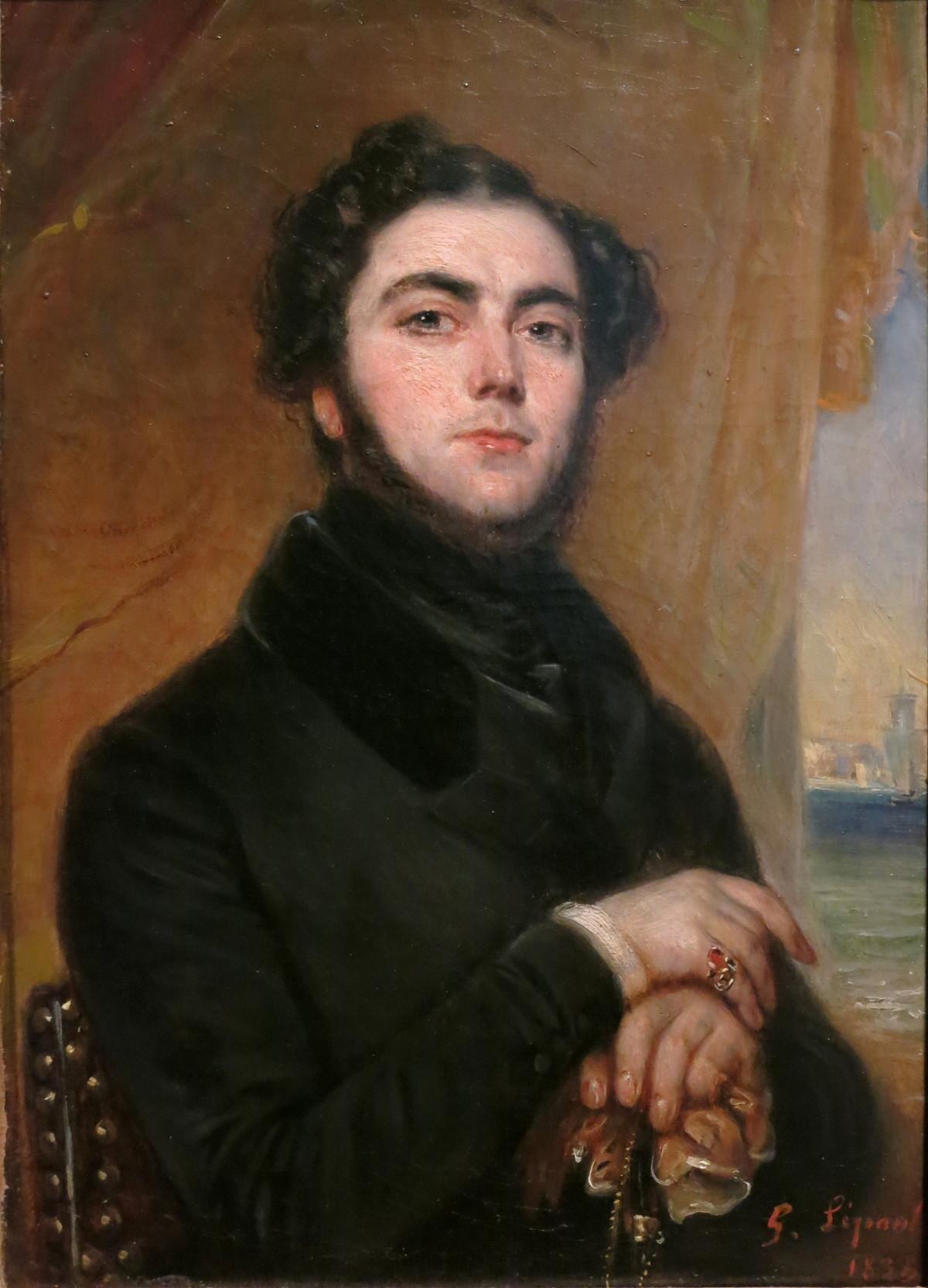 L'écrivain dandy et auteur des «Mystères de Paris »Eugène Sue par François-Gabriel Lépaulle, 1837 - source : WikiCommons