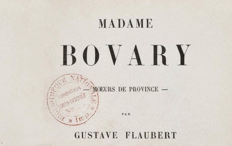 Madame Bovary, moeurs de province ; Gustave Flaubert ; M. Lévy frères (Paris) ; 1857