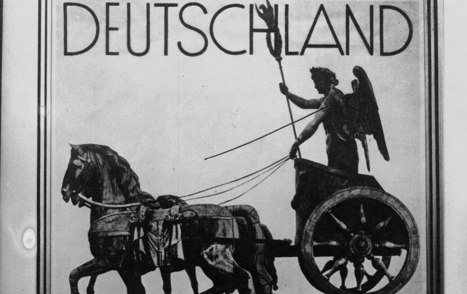 L'affiche pour les Jeux olympiques de 1936 à Berlin ; Mondial Photo-Presse (Paris) ; 1933 - Source BnF.