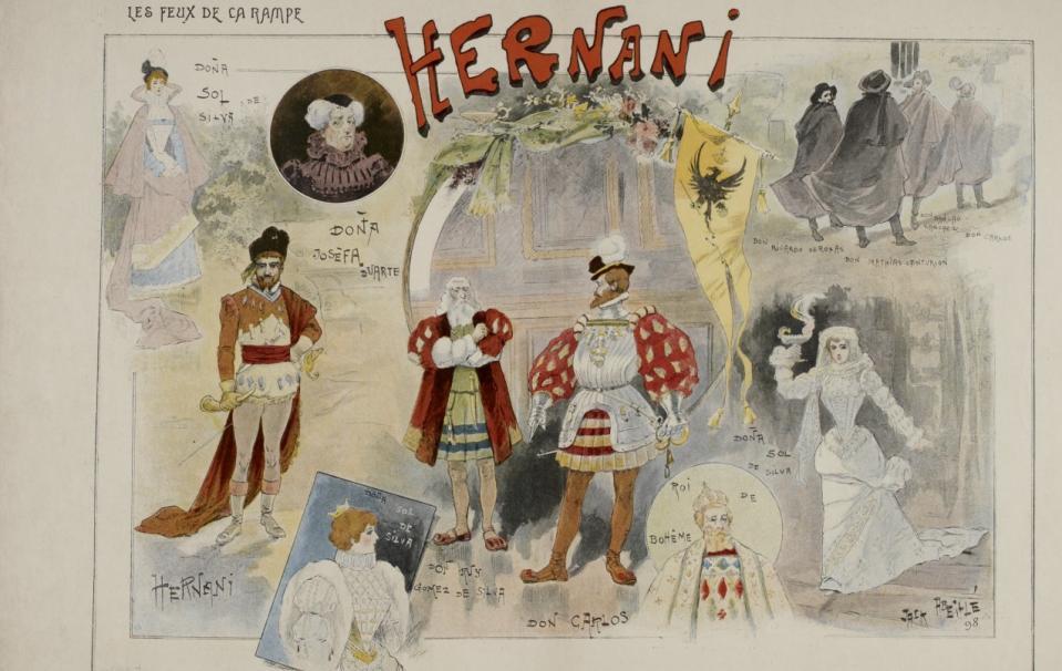 Hernani, drame de Victor Hugo : défets de presse ; s.n. ; 1830 - Source BnF