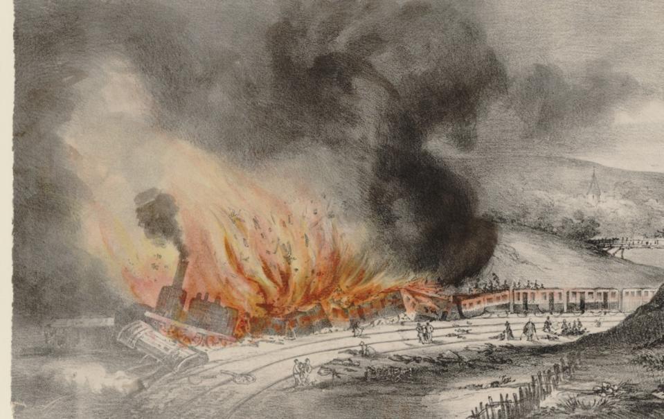 8 mai 1842, Accident sur le chemin de fer de Versailles, Rive gauche ; [s.n.] - Source BnF
