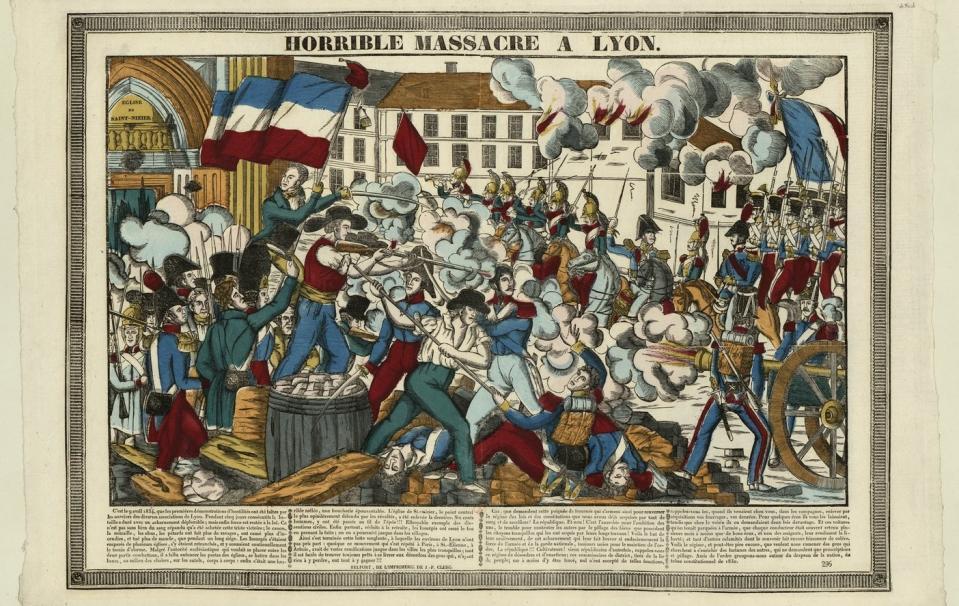 Horrible Massacre A Lyon - Révolte des Canuts [estampe] ; Belfort ; 1834