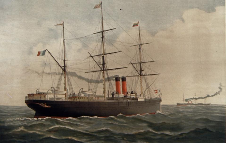 Compagnie Générale Transatlantique [affiche] ; [s.n.] ; Lith. F. Appel (Paris) ; 1887