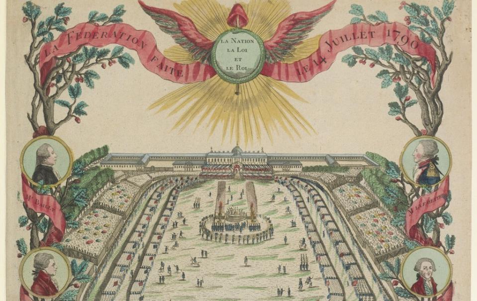La Fédération faite le 14 Juillet 1790 : la Nation la Loi et le Roi ; 1790 - Source BnF