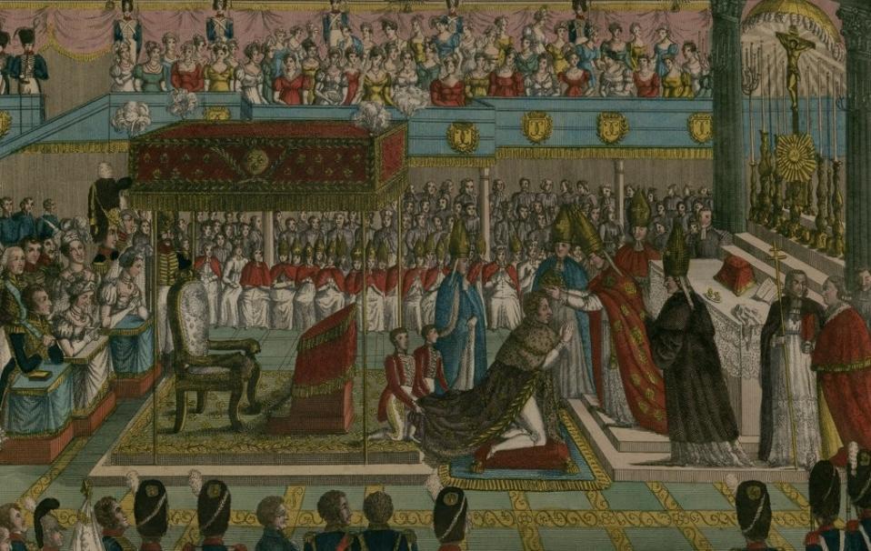 Sacre de sa Majesté Charles X, à Rheims, le 29 mai 1825 - Source BnF