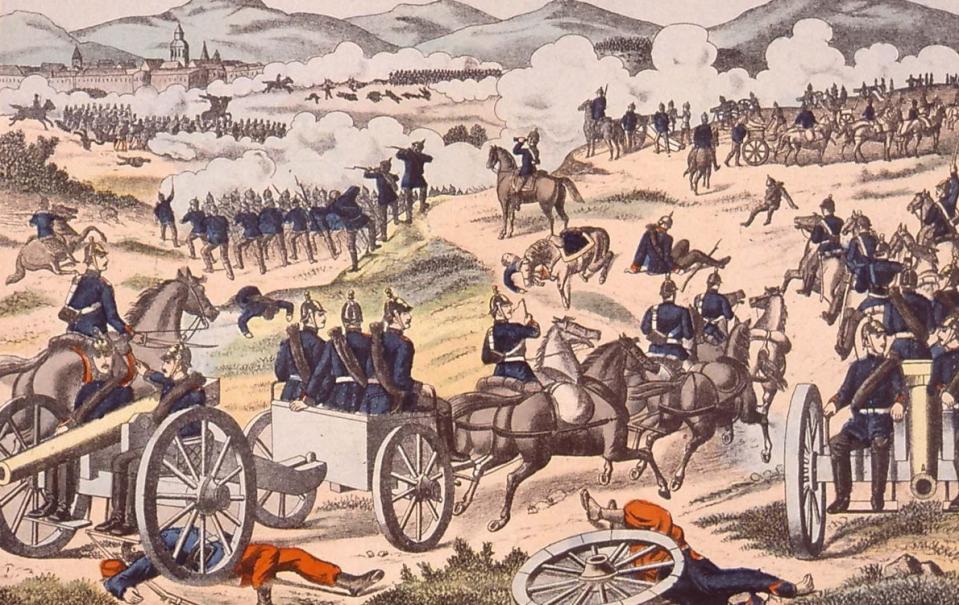 Schlacht bei Sedan am 1 September 1870 - Source BnF