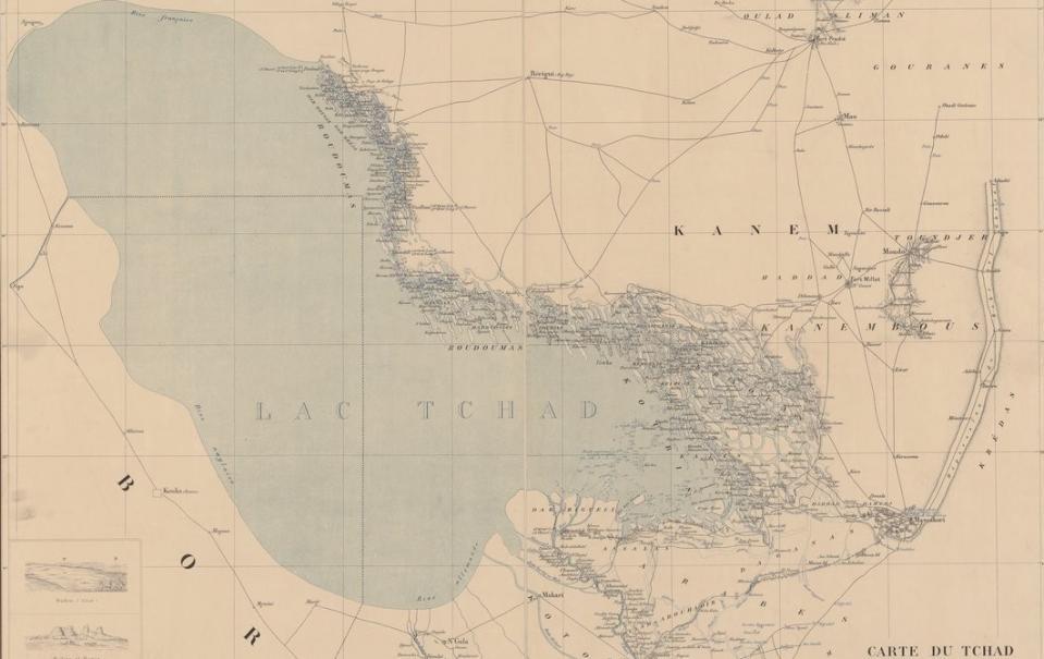 Carte du Tchad ; Georges Destenave ; années 1900 ; Source : BnF