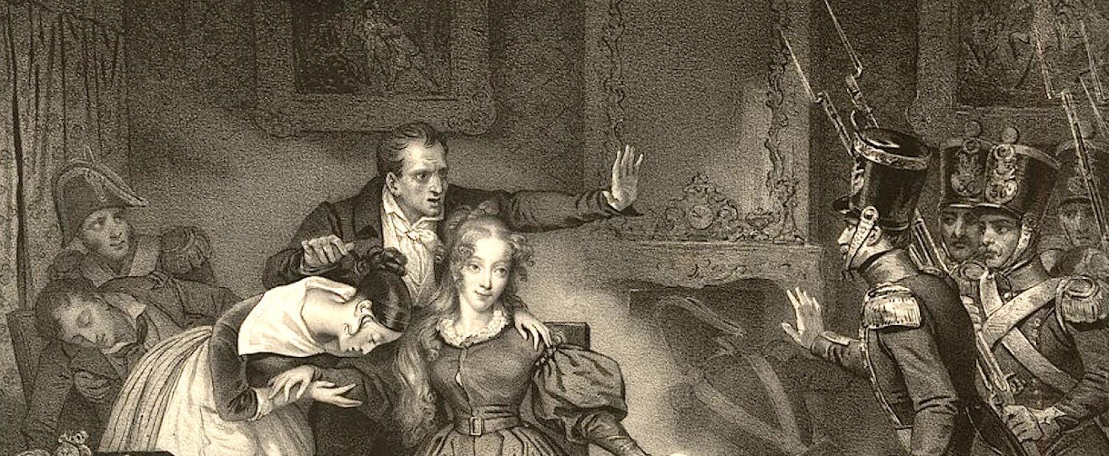Una representación de la detención de la duquesa de Berry