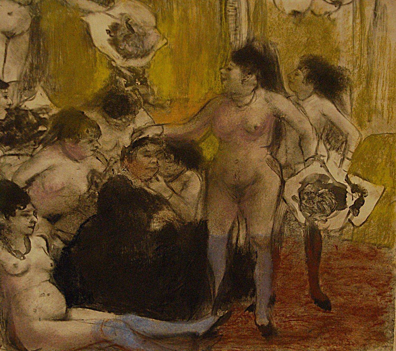 « La Fête de la patronne », monotype à l'encre d'Edgar Degas, 1878-79 - source : Musée Picasso-WikiCommons