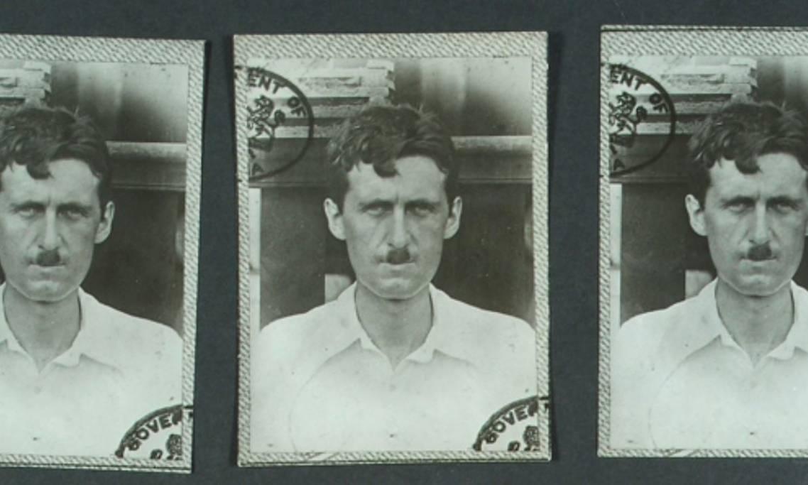 Photos d'Eric Blair (George Orwell) archivées à la Police métropolitaine de Londres, circa 1920 - source : The National Archives-WikiCommons