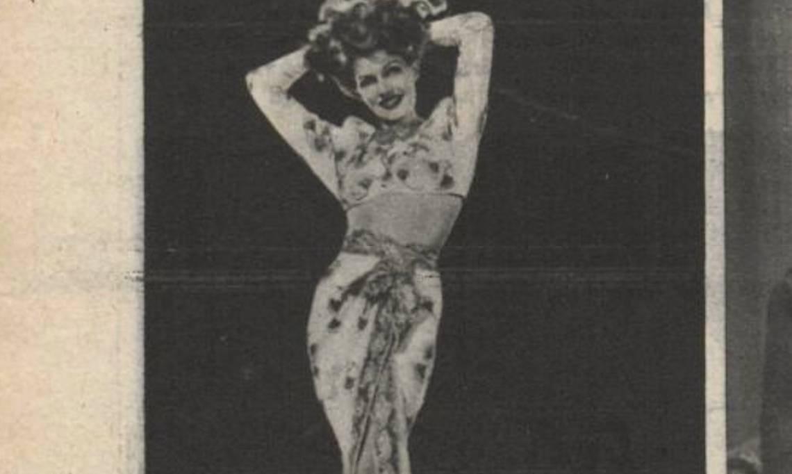 L'actrice, danseuse, et «pin-up » Rita Hayworth dans L'Intransigeant, 1935 - source : RetroNews-BnF