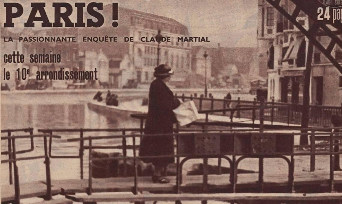 Une de Regards, reportage consacré au 10e arrondissement, 11 février 1937 - source : RetroNews-BnF