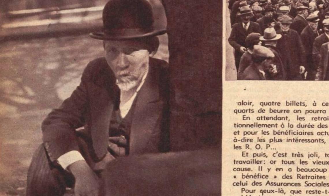 Un homme âgé sur une berge de Paris, Regards, 3 juin 1937 - source : RetroNews-BnF