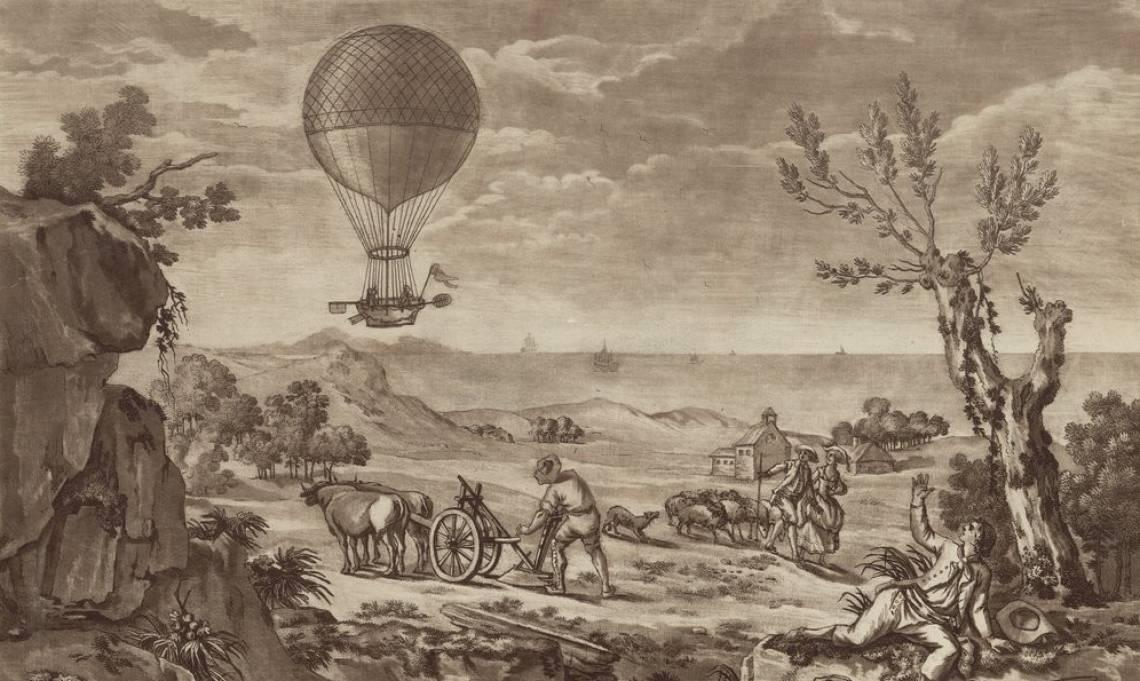 1785 : première traversée de la Manche en ballon, par Jean-Pierre Blanchard