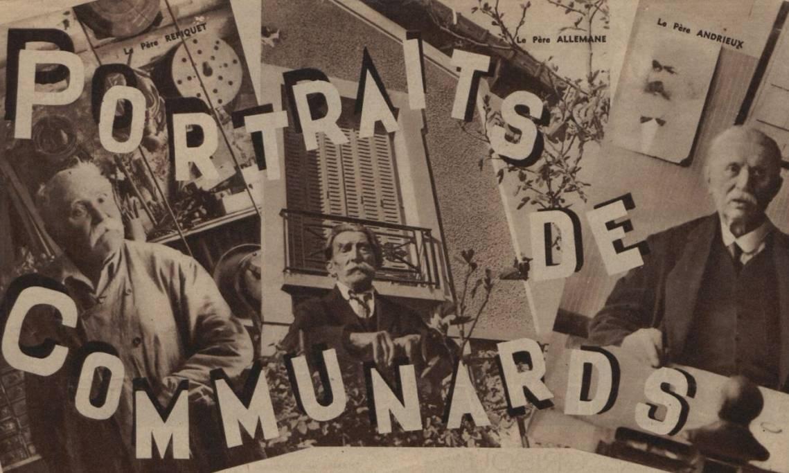 Extrait de l'article de Regards, « Portraits de Communards », 25 mai 1934 - source : RetroNews-BnF