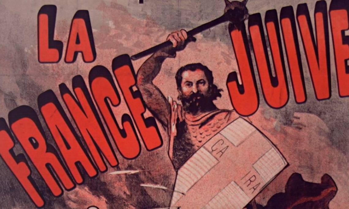 Couverture de « La France juive», pamphlet antisémite d'Edouard Drumont, 1886 - source : Gallica-BnF