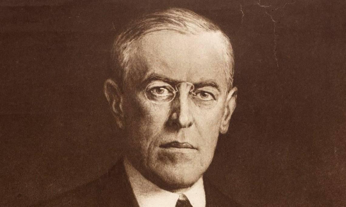 Woodrow Wilson, président des États-Unis de 1913 à 1921 - source : Gallica-BnF
