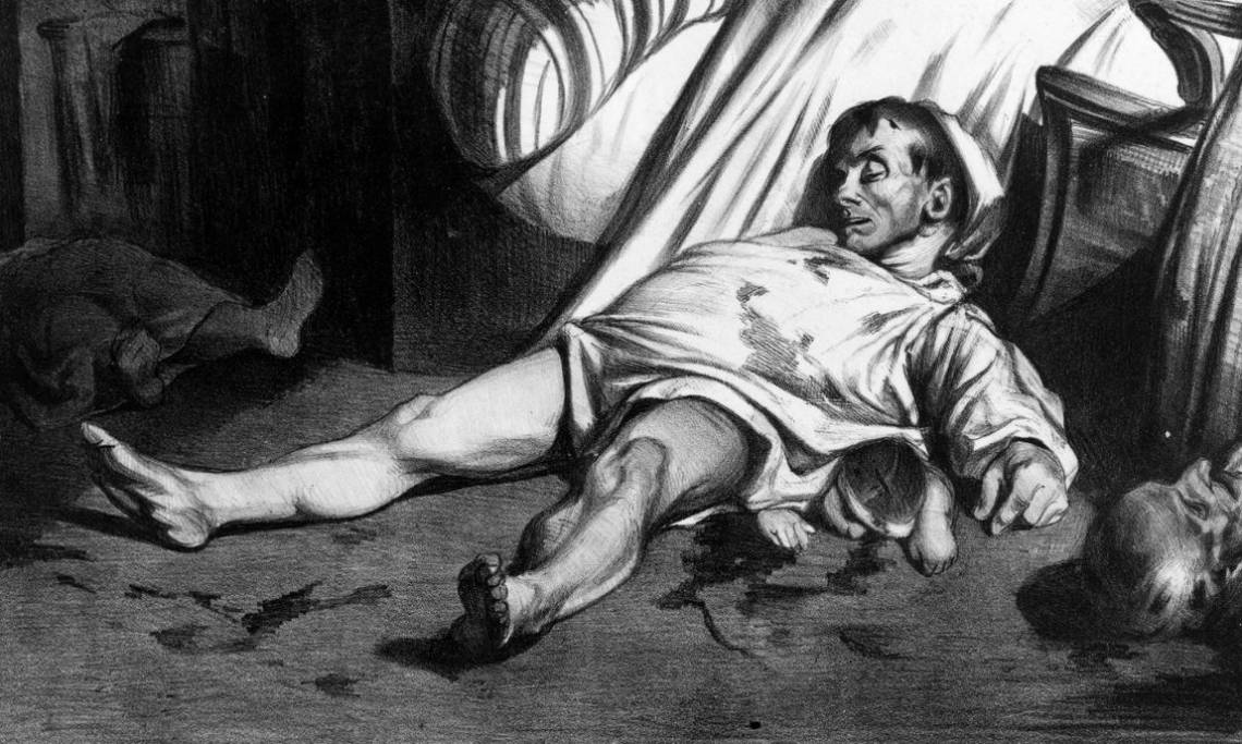«Rue Transnonain, le 15 avril 1834», lithographie d'Honoré Daumier, 1834 - source : WikiCommons
