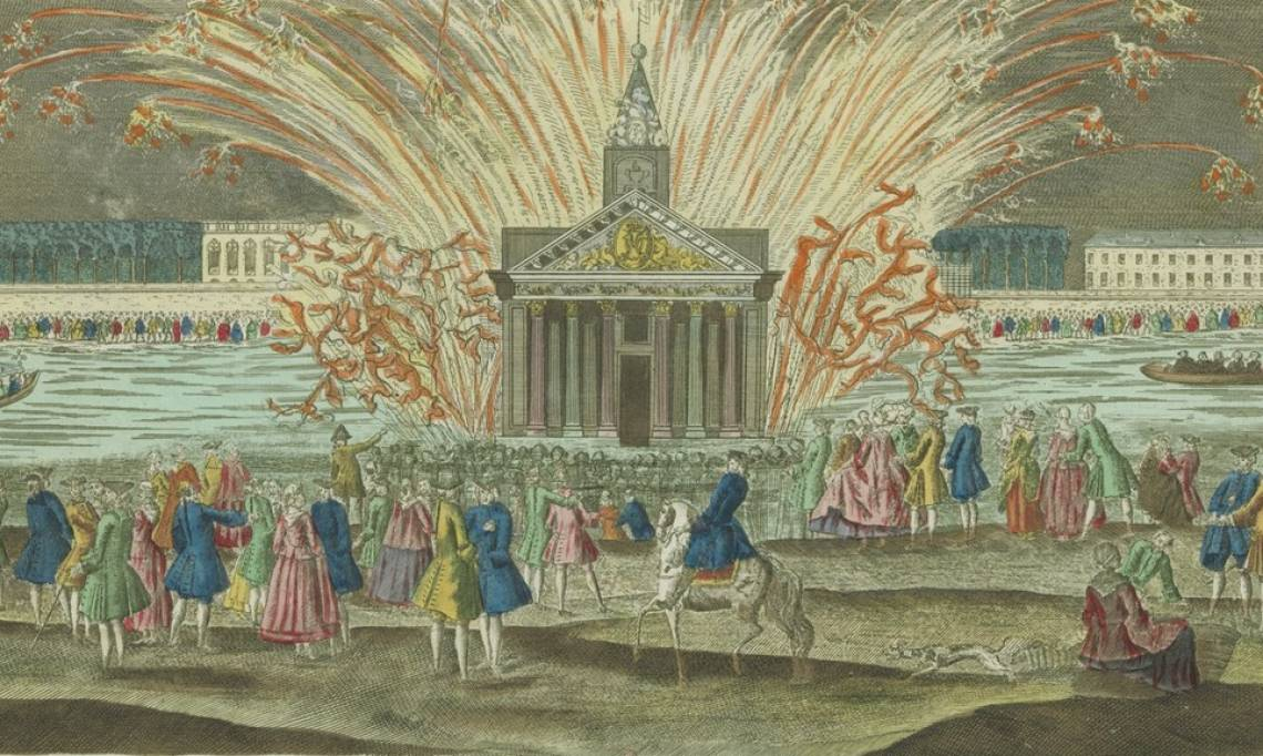 Le feu d'artifice meurtrier à la suite du mariage du dauphin de France, futur Louis XVI, 1770, estampe - source : Gallica-BnF