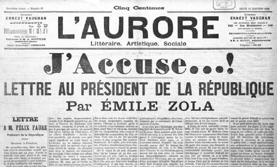 Lisez le « J'Accuse...! » de Zola | RetroNews - Le site de presse de la BnF