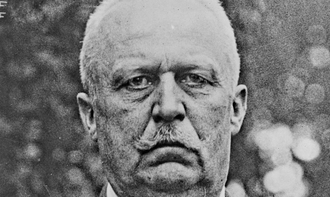 Le général en chef des armées allemandes pendant la Première Guerre mondiale, Ludendorff, agence Rol, 1923 - source : Gallica-BnF