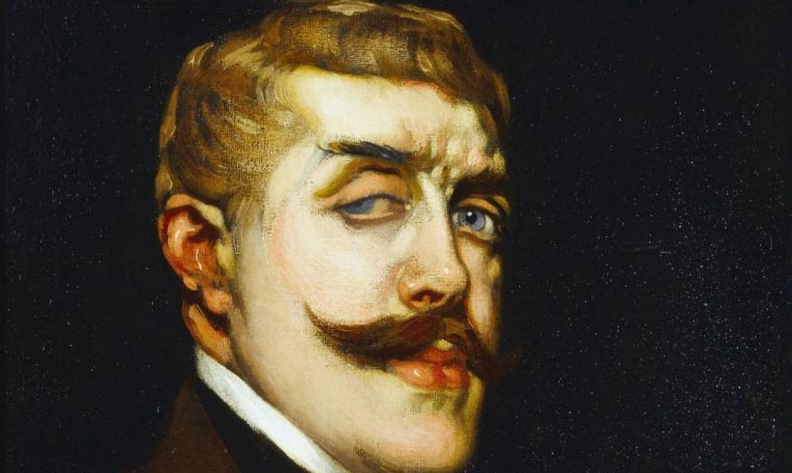 Portrait de Jean Lorrain par Antonio de La Gandara, circa 1900 - source : Musée Carnavalet