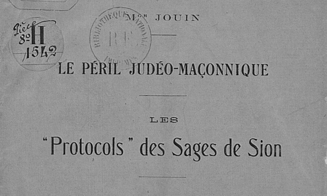 Mgr Jouin, un catholique intégriste contre le « péril judéo-maçonnique »