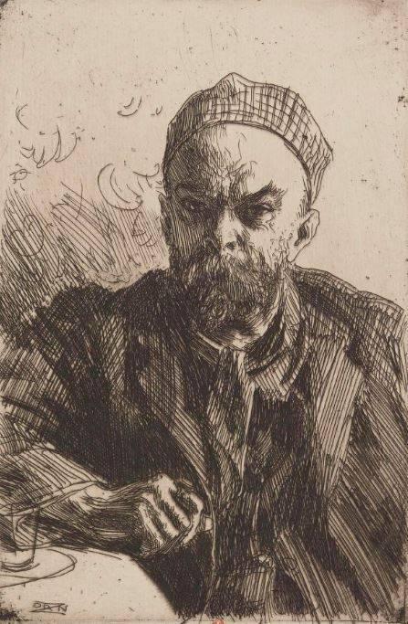 « Paul Verlaine », estampe d'Anders Zorn, 1895 - source : Gallica-BnF